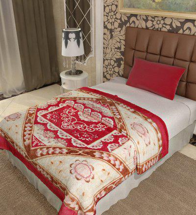 Home Candy Floral Single Mink Blanket(Polyester, Multicolor)