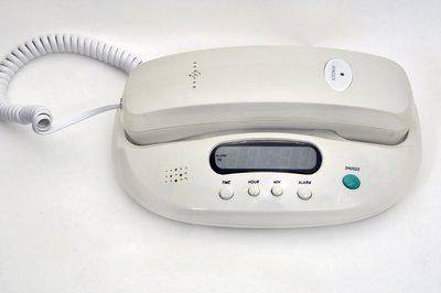 Sonics HT-307 White Corded Landline Phone(White)