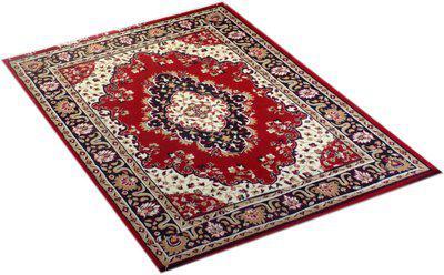 FURNISHINGLAND Red Polyester Carpet(180 cm X 235 cm)