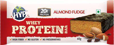 HYP Almond Fudge (Box of 6) Protein Bars(60 g, Almond Fudge)