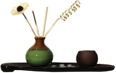 Orchard Porcelain 1 - Cup Candle Holder Set(Multicolor, Pack of 1)