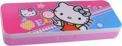 Saamarth Impex Student Supplies Cartoon Print Art Plastic Pencil Box(Set of 1, Pink)