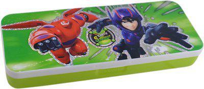 Saamarth Impex Student Supplies Cartoon Print Art Plastic Pencil Box(Set of 1, Green)