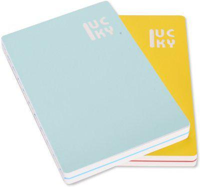 Enwraps Regular Notebook(Lucky Bright Bi-Colour Big MC, Multicolor, Pack of 2)