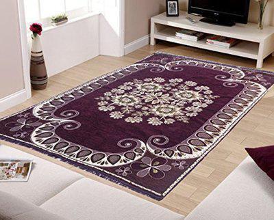iTrend India Multicolor Velvet Carpet(137 cm X 213 cm)