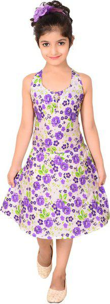 Sweet Angel Midi/Knee Length Casual Dress(Multicolor, Sleeveless)