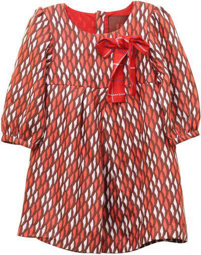 My Little Lambs Midi/Knee Length Casual Dress(Brown, Full Sleeve)