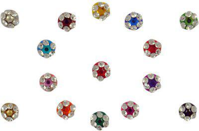 Instabuyz Crystal Stone FOREHEAD Multicolor Bindis(FANCY BINDI)