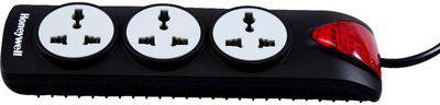 Honeywell 3 Socket Surge Protector(Black)