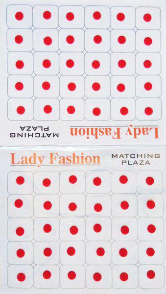 Lady Fashion Matching Plaza 0202201603 Forehead Red Bindis(Stick On)