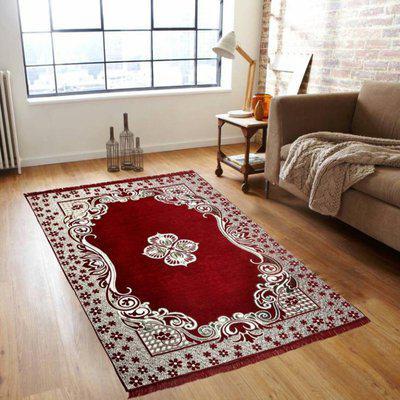 NEW TRENDS Red Cotton Carpet(121 cm X 183 cm)
