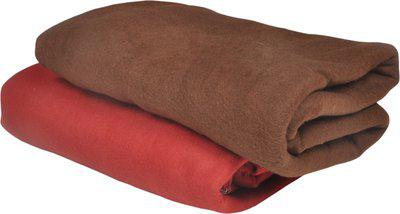 Jass Home Decor Plain Single Blanket(Microfiber, Brown)