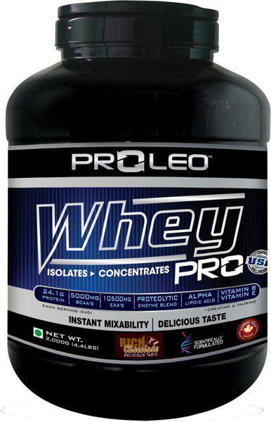 Proleo PROLEO-Whey Pro-4.4lb-Chocolate Whey Protein(2 kg, chocolate)