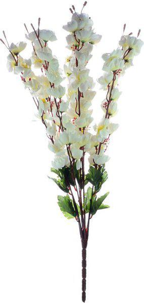 JaipurCrafts White Magnolia Artificial Flower(21.5 inch, Pack of 1)