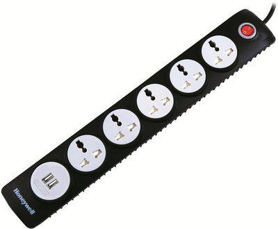 Honeywell HC000003 5 Socket Surge Protector(Black)