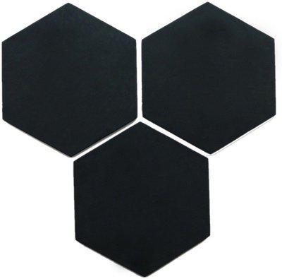Marine Pearl Hexagonal 19 Inches Pack of 3 Designer Pin Board Tiles Bulletin Board(Black)