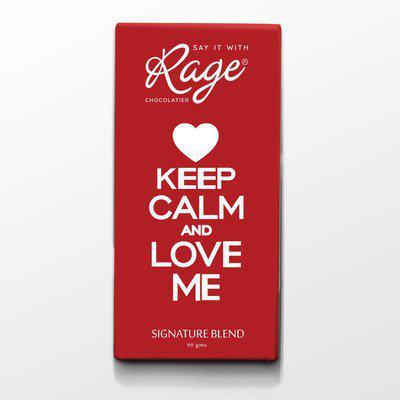 Rage Keep Calm and Love Me Signatur Chocolate Bars(90 g)