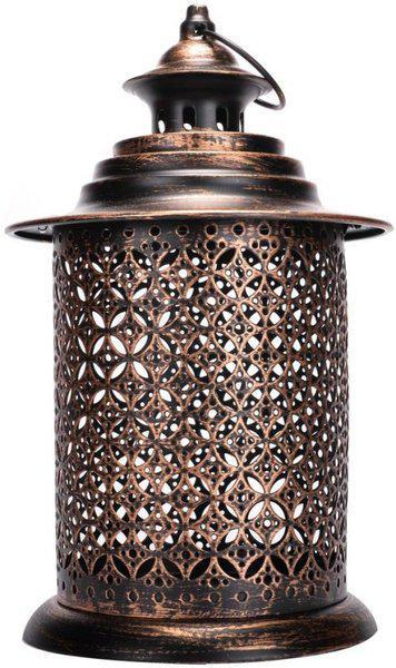 Scrafts Metal Antique Royal Look BR Steel Candle Holder(Brown, Pack of 1)