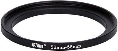 JJC Kiwifotos Metal Adapter Ring SU 52-58 Step Up Ring(52 - 58 mm)