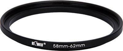 JJC Kiwifotos Metal Adapter Ring SU 58-62 Step Up Ring(58 - 62 mm)