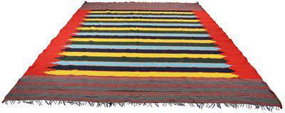 Hashtag Multicolor Cotton Area Rug(275 cm X 365 cm)