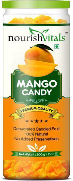 NourishVitals (Dehydrated Fruits) Dried Fruit Mango(200 g)