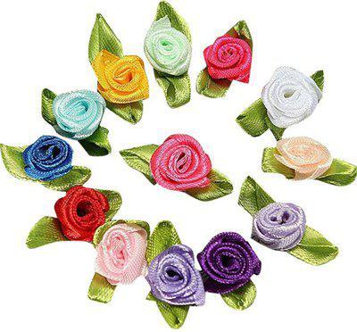 Futaba Multicolor Rose Artificial Flower(3 inch, Pack of 100)