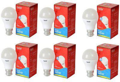 Ajanta 5 W Round B22 LED Bulb(White, Pack of 6)