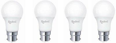 rashmi 9 W Round B22 LED Bulb(White, Pack of 4)