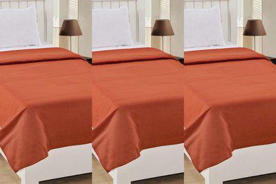 vivek homesaaz Plain Single Coral Blanket(Microfiber, Orange)
