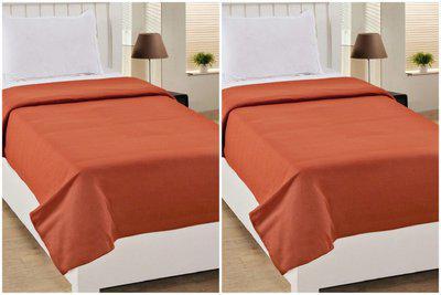 vivek homesaaz Plain Single AC Blanket(Microfiber, Multicolor)