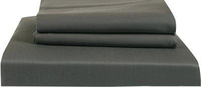 Just Linen 300 TC Cotton Double King Plain Bedsheet(Pack of 3, Dark Grey)