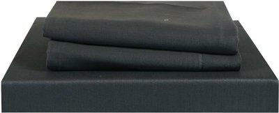 Just Linen 210 TC Cotton Double Plain Bedsheet(Pack of 3, Dark Grey)
