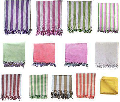 Ethnicalive Handloom Bhagalpuri Silky Dull Chadar (Assorted Pack of 2)(Bhagalpuri Handloom)