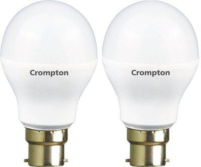 Crompton 9 W Standard B22 LED Bulb(Yellow, Pack of 2)