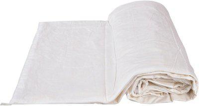 EthnicAlive Plain Single Top Sheet(Cotton, White)