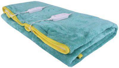 Home Elite Plain Double Electric Blanket(Polyester, Green)