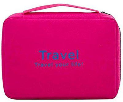Styleys Pink Toiletry Bag Travel Toiletry Kit(Pink)
