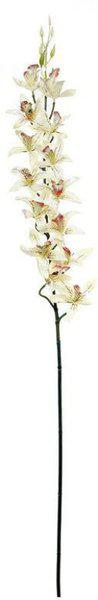 FreshKnots White Orchids Artificial Flower(27.55 inch, Pack of 1)
