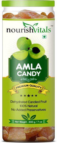 NourishVitals Amla Dried Fruit (Dehydrated Fruits) Gooseberry(200 g)