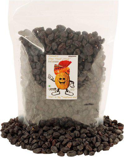 Sainik's Dry Fruit Mall Black Kishmish Raisins/Kali Drak Raisins(250 g)