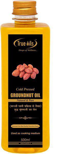 True Oils Cold Pressed Oil Groundnut Oil Plastic Bottle(500 ml)