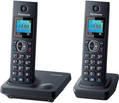 Panasonic KX-TG7862 Cordless Phone with Answering Machine Cordless Landline Phone with Answering Machine(Black)