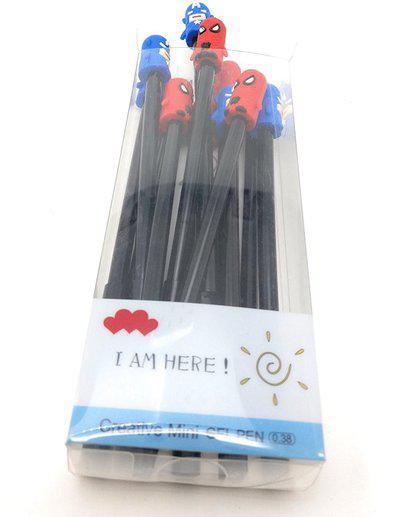 Oytra Kids Pens Superhero Spider-man Theme Gel Pen(Pack of 12)