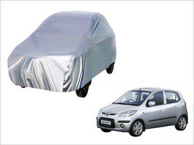 Ek Retail Shop Car Cover For Hyundai i10 (Without Mirror Pockets)(Silver, For 2014, 2015, 2016, 2017, 2018 Models)