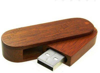 nexShop High Quality Rotational Wooden Media Storage USB 2.0 Flash Drive 4 GB Pen Drive(Brown)