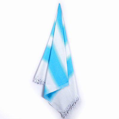 Sathiyas Cotton 500 GSM Bath Towel(Light Blue, White)