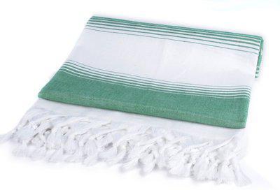 Sathiyas Cotton 500 GSM Bath Towel(Green, White)