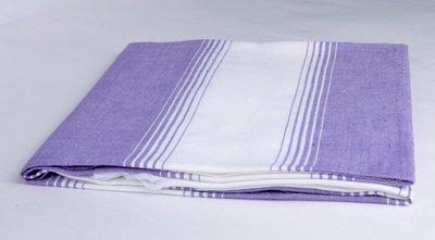 Sathiyas Cotton 500 GSM Bath Towel(Lavender, White)