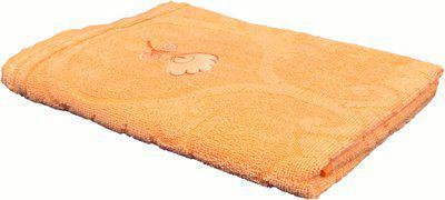 Jass Home Decor Cotton 100 GSM Bath Towel(Orange)